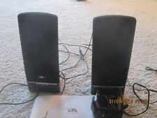 PAIR CYBER ACOUSTICS POWERED COMPUTER SPEAKERS - MODEL CA-2014 in original box