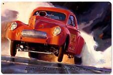 Hot Rod Drag Race Car Metal Sign Man Cave Garage Body Shop Club Tom Fritz TF035