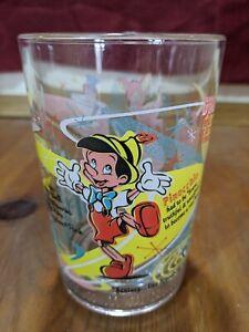DISNEY 100th ANNIVERSARY GLASS MCDONALDS Mickey Pinocchio Dumbo Tinker Bell MINT