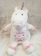 Personalised mumbles unicorn teddy bear embroidered with name or short message
