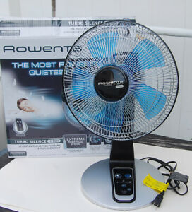 Rowenta VU2660 Turbo Silence Extreme Table Fan with Remote Control - Black/Silve