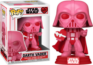 "STAR WARS VALENTINE'S DARTH VADER PINK 3.75"" POP VINYL FIGURE FUNKO 417"