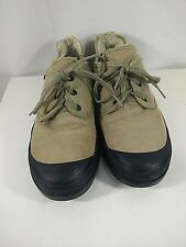 Sabra Negev Women's Sz 39 Tan Canvas Desert Shoes Lug Soles Made in Israel