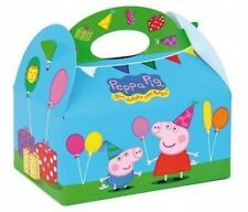 6 Peppa Pig Food Boxes ~ Picnic Carry Meal Box ~ Kids Birthday Party Bag Plate