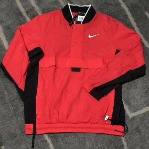 Nike Basketball Pullover Jacket Red/Black AJ3918-657 Size Medium