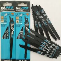 10 X WOOD RECIP SAW BLADES RAWLPLUG US PRO S644D 150mm fast cut 6 tpi FAST CUT