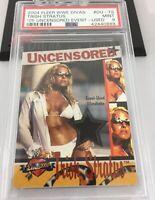 Trish Stratus 2004 Fleer Wwe Divas Uncensored Event Used Relic Card Psa 9 Rare