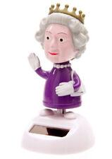 Solar Wackelfigur Queen Königin England UK Solarqueen winkende Hand B-Ware Deko
