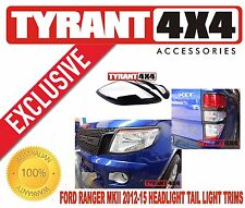 Ford Ranger PX MK1 2012 2013 2014 2015 Black Headlight Tail Light Trims XLT XLS
