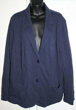 Talbots Woman 20W Navy Blue Pique Cotton Blazer Jacket Summer 1x 2x