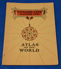 Cunard Line Anchor Line World Atlas