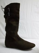 Material Girl Size 10 M Bonita Brown Knee High Boots New Womens Shoes NWOB