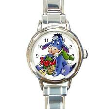 WINNIE THE POOH'S EEYORE WITH PRESENT CHRISTMAS CHARM WATCH GIFT NEW