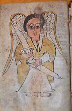 Antique Ethiopian Coptic Christian Manuscript Hand Written Vellum Bible Codex 44