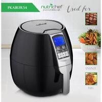 NutriChef PKAIRFR54 Digital Air Fryer, Electric Oil-Free Air Frying Cooker