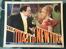 """The Toast Of New York 1937 RKO 11x14"""" lobby card Edward Arnold Frances Farmer"""