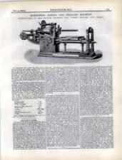 1892 Horizontal Boring, Drilling Machine Newark Machine Tools New Jersey