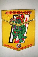 CHICKSA 202 YOCONA 2-PATCH OA 100TH ANN 2015 NOAC FLAP 200 MADE GMY DELEGATE