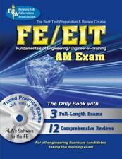 FE/EIT AM w/CD-ROM  (REA) - The Best Test Prep for the Engineer in-ExLibrary