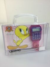 New Rare Armiton looney tunes tweety bird  calculator watch Works Perfect.