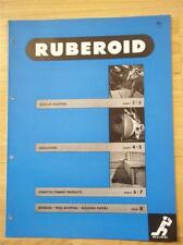 Ruberoid Co Catalog~Asbestos~Pipe Insulation/Paper/Roofing/Siding/Shingles