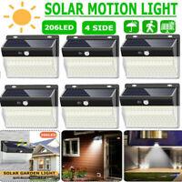 206 LED Solar Light Outdoor Motion Sensor Waterproof Garden Garage Outdoor Lamp