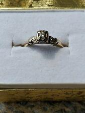Vintage Antique 14K Gold Diamond Engagement Ring (size 6) - Not Scrap