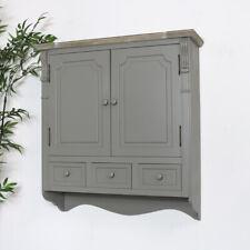 Grey wall mounted cabinet storage shelves cuboard drawer shelf storage shelving