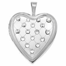 Crystal Locket Unbranded Round Costume Necklaces & Pendants