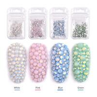 3D Nail Art  Decoration Glitter Beads Rhinestones Acrylic Tips Nail Art Manicure