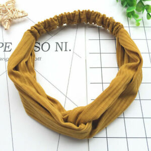 Summer Womens Headband Cute Bowknot Hair Bands Wraps Fabric Headwrap Accessories