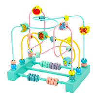 Wooden   Fruit   Bead   Maze   Activity   Cube   Educational   Abacus   Toddlers