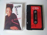REGINA BELLE ALL BY MYSELF CASSETTE TAPE 1987 RED PAPER LABEL CBS UK