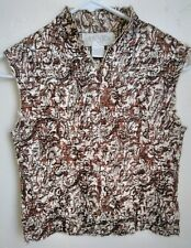 """Casual Corner Annex  Women's """"CRINKLE PLEAT"""" Blouse Top Shirt Size Small"""