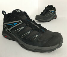 Salomon X Ultra 3 Men's 8.5 Hiking Shoes Phantom Black Blue Quicklace Contragrip