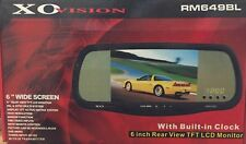 "XO Vision RM649BL 6"" Car LCD Rear View Mirror TFT LCD Monitor w/ Built in Clock"