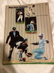 New York Yankees 1980 Scorebook & Official Magazine