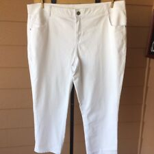 Lane Bryant Women's Pants Cotton Blend White Trousers Plus Size 26   U1