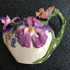 Blue Sky Heather Goldminic #13002 Bella Violet Butterfly T-Pot