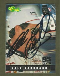 DALE EARNHARDT SR  - AUTOGRAPHED - 1995 Finish Line Racing - Card #111     [e49]