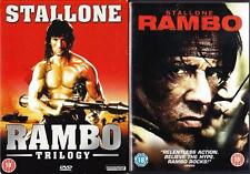 RAMBO QUADRILOGY1,2,3,4 [First Blood] Sylvester Stallone Action DVD Set  *EXC*