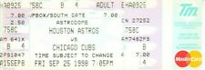 Sammy Sosa Home Run #66 Chicago Cubs vs. Houston Astros 1998 full unused ticket