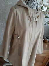 Maje stone trench hooded coat size 40 UK10
