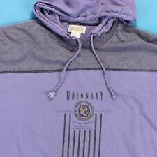 Men's UNIONBAY HOODED Vintage Shirt Size XL 90s Streetwear Urban Hoodie