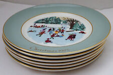 Set of 6 Avon Collector Plates Christmas 1975-1980 by Enoch Wedgewood England