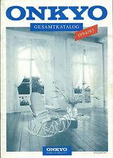 Onkyo 1994/95 Katalog Prospekt Catalogue Brochure / M-3890 M-5890 A-8870 T-4970