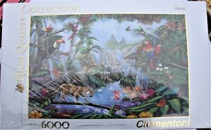NEW 6,000 Piece Jigsaw Puzzle by Clementoni Fantasy Jungle Scene - High Quality