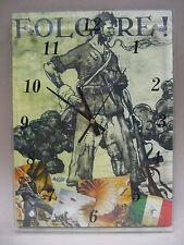 Orologio da Parete Vetro/Legno EL ALAMEIN 1942 DIVISA PARA' FOLGORE (Mod. MAXI)