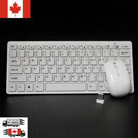 2.4GHz Ultra Slim Wireless Keyboard and mouse Combo White Color For PC Laptop