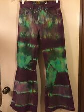 Vtg Levi Men's SILVERTAB Straight & Narrow Tie Dye Bell Bottom Jeans W29 X L30